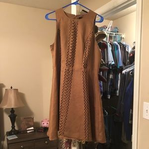 Mossimo Tan Suede Laser Cut Dress
